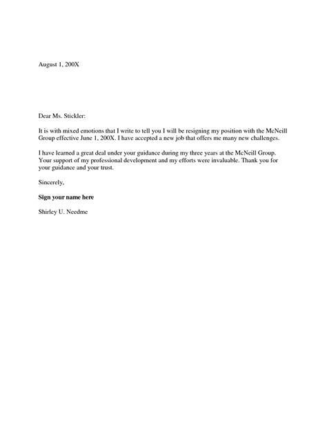 example of a simple resignation letter topgossip 10838f8f6db5