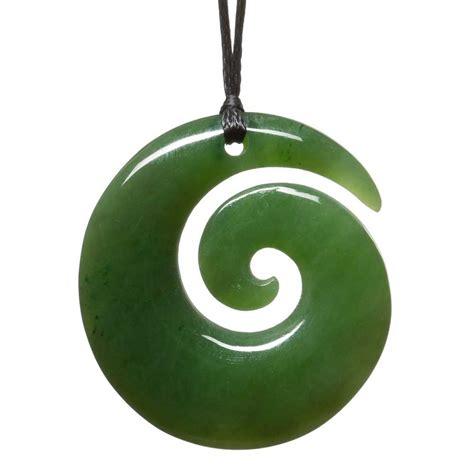 Koru Greenstone Pendant   Silverfernz.com