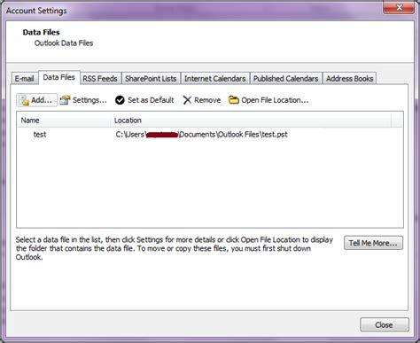membuat email outlook 2010 ilmu software membuat file pst baru di outlook 2010