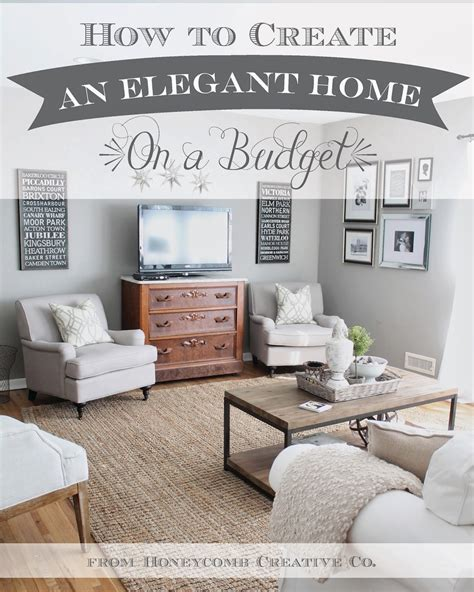 home decor for less online how to create an elegant home on a budget 7 tips and