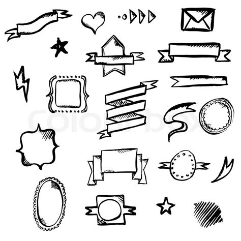 Drawing Symbols by Draw Symbols Vector Illustration Stock Vector