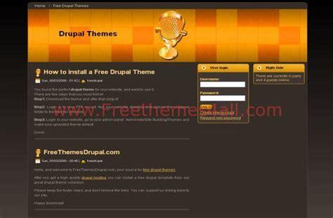 drupal themes orange free drupal dark music orange theme template download