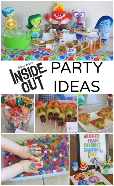 inside out printable party decorations inside out party food menu printable food labels