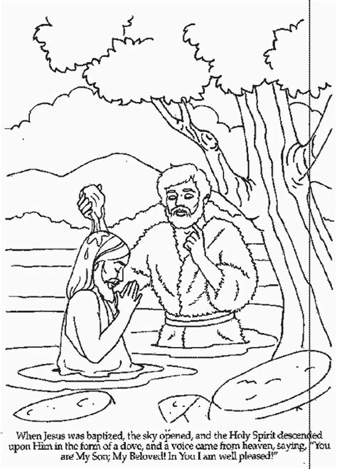 coloring page of john baptizing jesus baptism of jesus coloring page az coloring pages