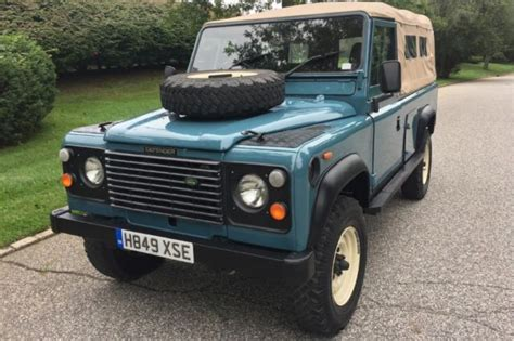 car owners manuals for sale 1991 land rover sterling instrument cluster 1991 land rover defender 110 60876 miles blue suv 4 cylinder manual classic land rover