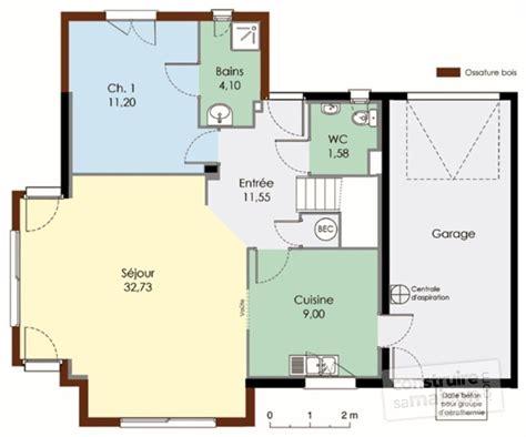 plan images maison bioclimatique 1 d 233 tail du plan de maison