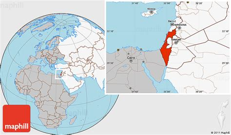 world map image israel gray location map of israel highlighted continent