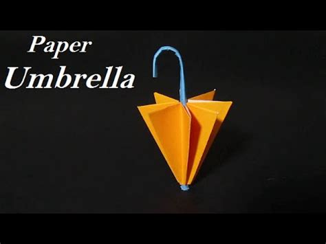 How To Make Paper Umbrella - paper umbrella origami paper umbrella easy