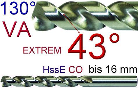 Bohren In Stahl by Va Bohrer V2a V4a Hsseco5