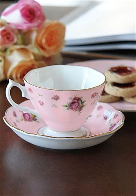 Teacup New Country royal albert new country roses pink vintage formal teacup saucer boxed set