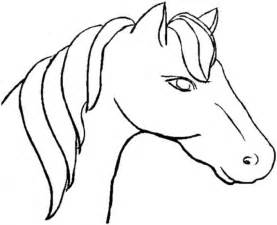 horse head templates clipart best