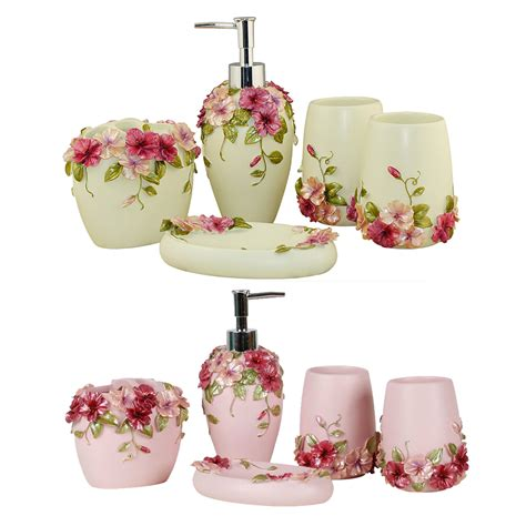 Country Style Resin 5pcs Bathroom Accessories Set Soap Country Style Bathroom Accessories