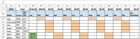 Dividend Calendar Dividend Stock Portfolio Tracker With Transactions Page