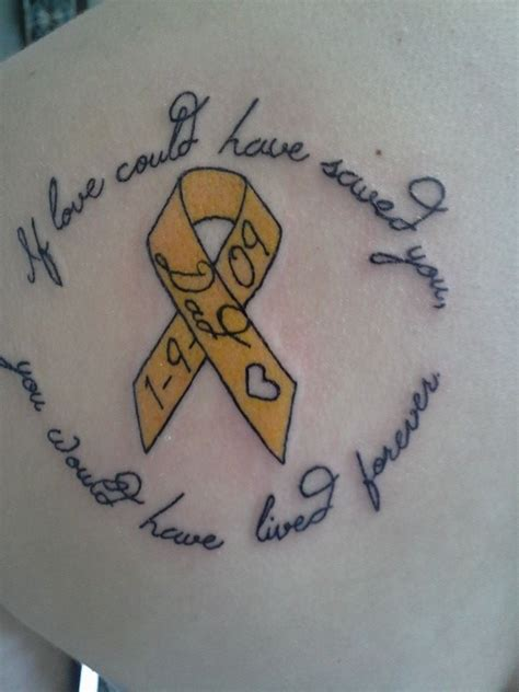 suicide memorial tattoos 25 best ideas about leukemia on breast