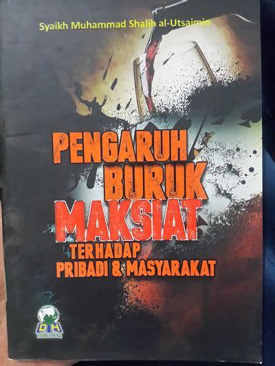 Buku Saku Etika Islam Sehari Hari buku pengaruh buruk maksiat terhadap pribadi masyarakat