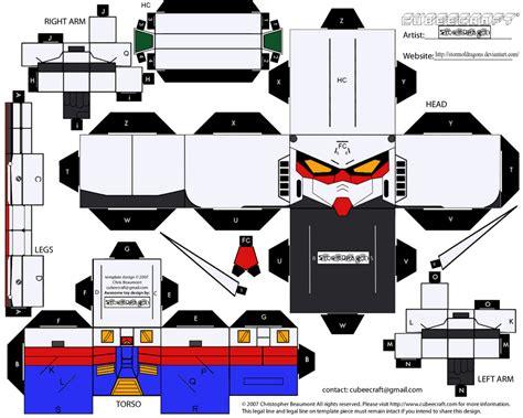 Gundam Papercraft Template - cubee gundam rx 78 2 ver2 by stormofdragons on deviantart