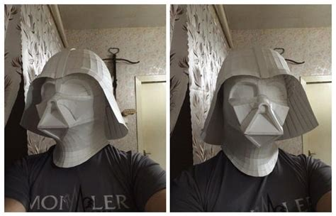 Darth Vader Mask Papercraft - papercraftsquare new paper craft wars