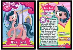 note book my little pony trading card by shira yuri on