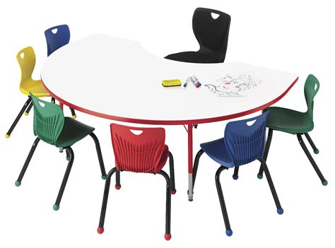 kidney shaped table for classroom tables 1497071 classroom select markerboard activity