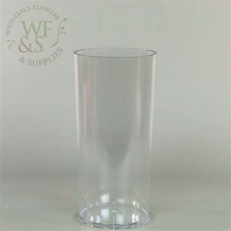 Wholesale Plastic Vases by Plastic Cylinder Vase Clear 5 Quot X 10 Quot Wholesale Flowers