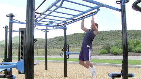 backyard monkey bars monkey bars on the movestrong outdoor functional fitness station youtube
