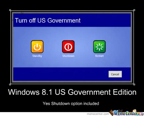 Windows Meme - windows 8 1 us government edition by tmalit meme center