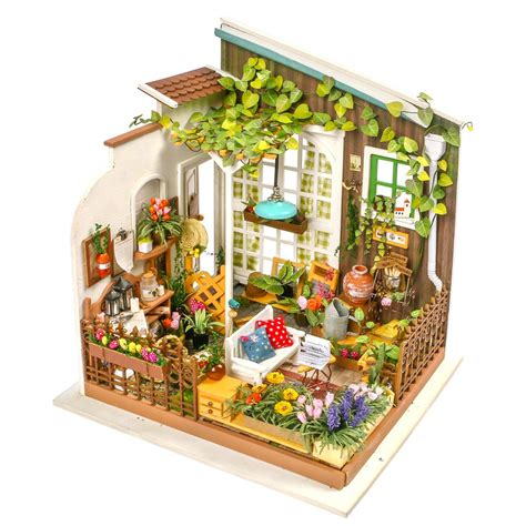 dollhouse garden robotime diy miniature dollhouse kit dg108 miller s garden