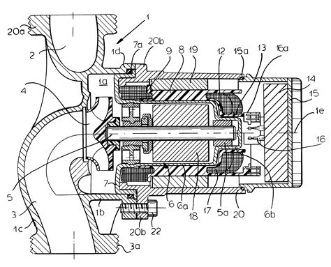 pump section patent us6365998 canned motor pump with winding carrier