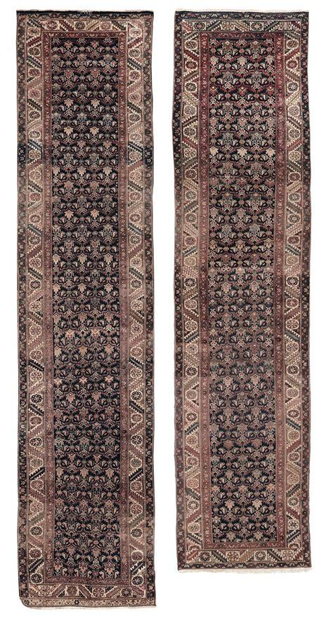 rara coppia di passatoie persiane malayer inizio xx secolo