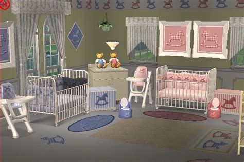 Bathroom Ideas Colours by Mod The Sims Gingham Rocking Horse Complete Nursery