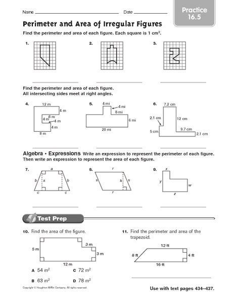 irregular shapes area worksheet worksheet area of irregular shapes worksheet caytailoc free printables worksheets for students