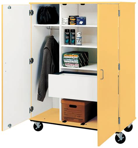 Mobile Wardrobe by I D Systems Mobile Wardrobe Shelf Combo With File