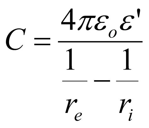 cylindrical capacitor equations cylindrical capacitor equation 28 images phy214 capacitors capacitor capacitance calulation