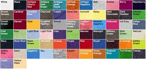 gildan color swatch gildan 5000 colors images search