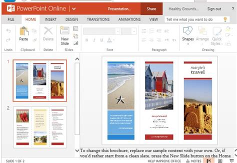 travel brochure maker templates for powerpoint