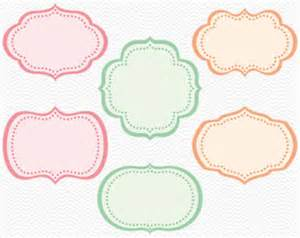 Shape Templates For Scrapbooking by Items Similar To Label Clipart Digital Label Clip