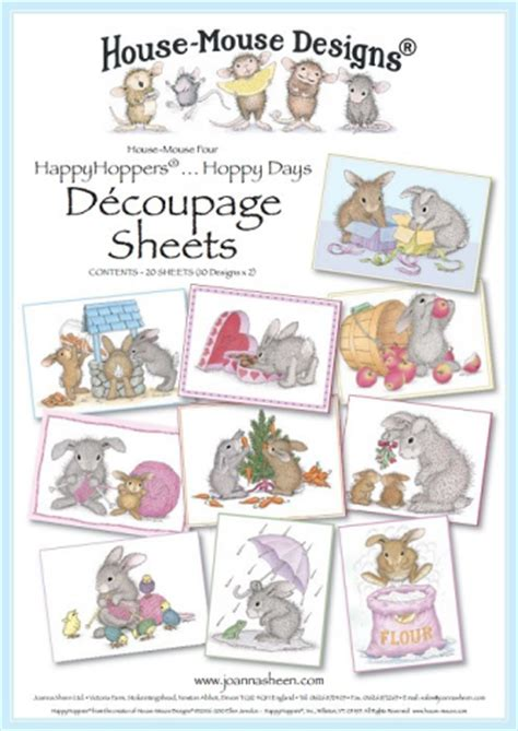 Decoupage House - house mouse decoupage windrush cards crafts