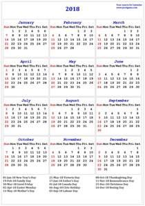 Calendar 2018 Canada 2018 Calendar Printable Calendar 2018 Calendar In