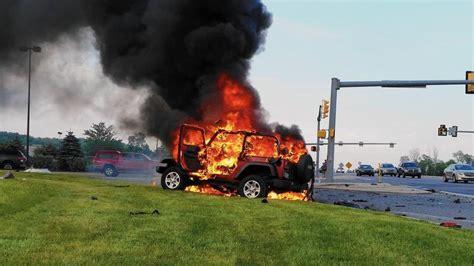 crashed jeep wrangler firey wrangler crash jeep wrangler forum