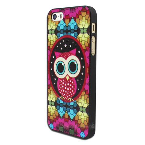 Soft Owl Iphone 5s colourful owl back for apple iphone 5 5s se mosaic plastic cover