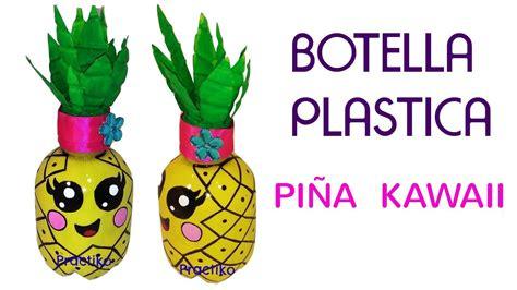 frutas con material reciclaje botella de plastico reciclado en forma de pi 209 a kawaii