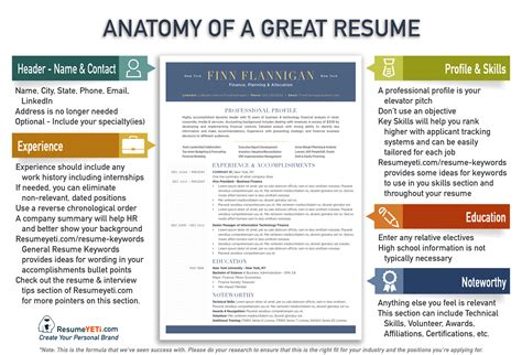 A Great Resume by Resume Tips Resume Yeti