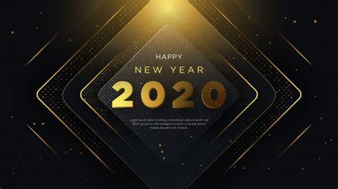 year creative  text greeting card vector