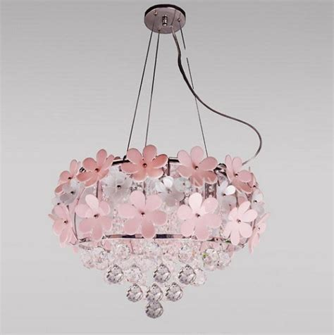 Pink Flower Chandelier Lighting Home Interiors
