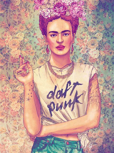 Imagenes Chidas De Frida Khalo | 22 ilustraciones tributo a frida kahlo creadas por
