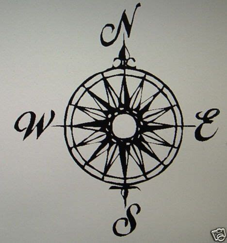 compass tattoo graphic wall decor vinyl graphic nautical compass rose 1