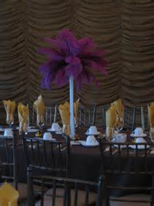 candi s floral creations 187 feather wedding centerpiece