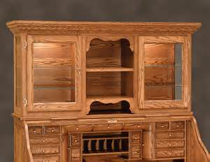 Roll Top Desk With Hutch Librarian S Roll Top Desk With Hutch