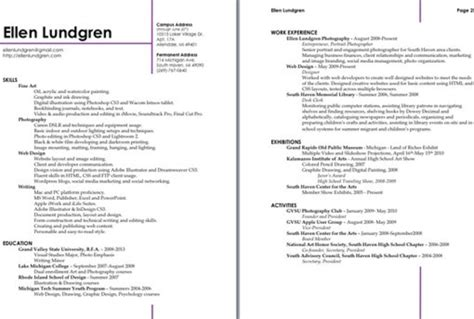 How To Organize A Resume by Organize And Make Your 1 2 Page Resume Look Well Designed