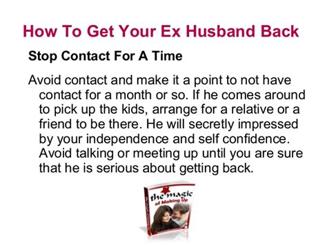 what to get your husband for how to get your ex husband back